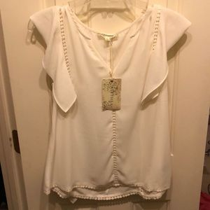 Lace peasant top brand new